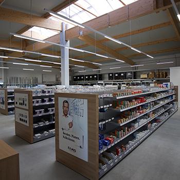 Verkaufsraum am Standort in Lübeck
